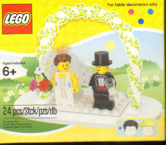 Lego Hochzeit  LEGO Minifiguren Hochzeits Set Tischdekoration
