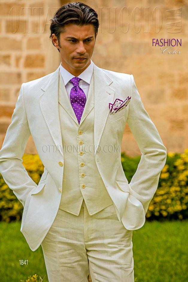 """Leinen Anzug Herren Hochzeit  Collezione Fashion Color """"Diamond"""""""
