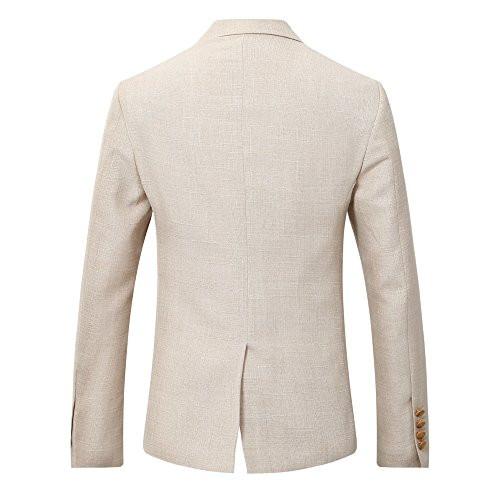Leinen Anzug Herren Hochzeit  1 Knopf Herren Anzug 3 Teilig Leinen Hochzeitsanzug