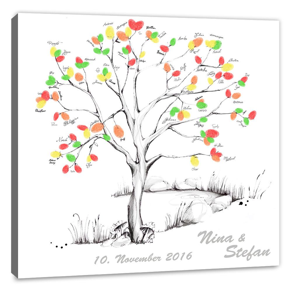 Leinwand Fingerabdruck Hochzeit  ♥wedding tree leinwand♥