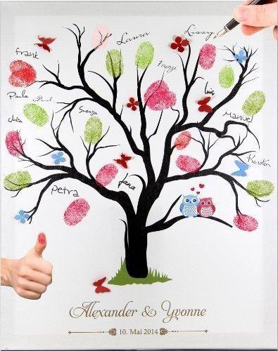Leinwand Fingerabdruck Hochzeit  Die 25 besten Ideen zu Baum malen auf Pinterest