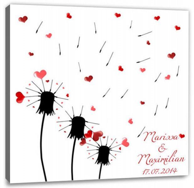 Leinwand Fingerabdruck Hochzeit  baum auf Leinwand malen Unbedingt kaufen
