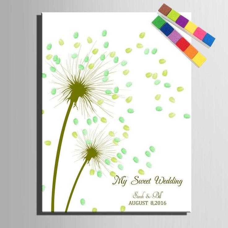 Leinwand Fingerabdruck Hochzeit  Die besten 17 Ideen zu Fingerabdruck Kunst auf Pinterest