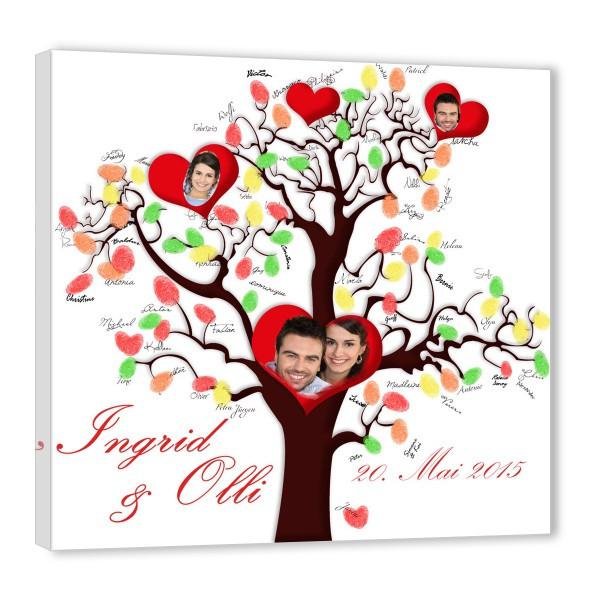 Leinwand Fingerabdruck Hochzeit  Fingerabdruck Baum