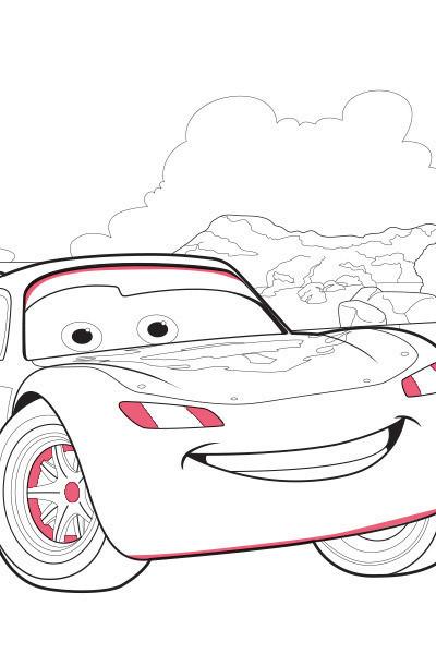 Lightning Mcqueen Ausmalbilder  Cars Lightning McQueen Ausmalbild