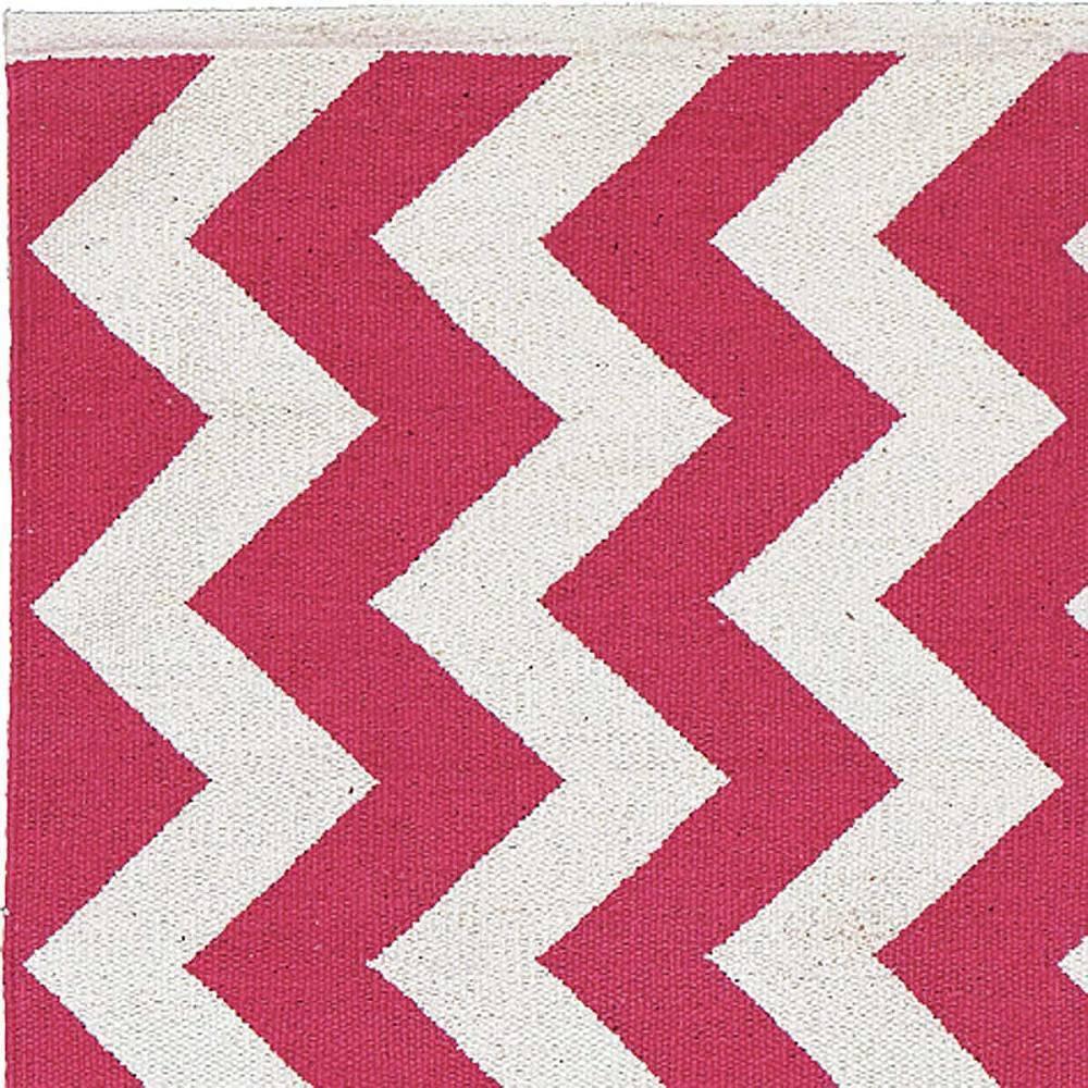 Liv Teppich  Liv Teppich Läufer OCEAN pink weiß 200 x 70 cm