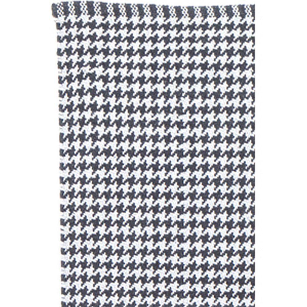 Liv Teppich  Liv Teppich grau weiß Hahnentritt Vichy 140x200 cm