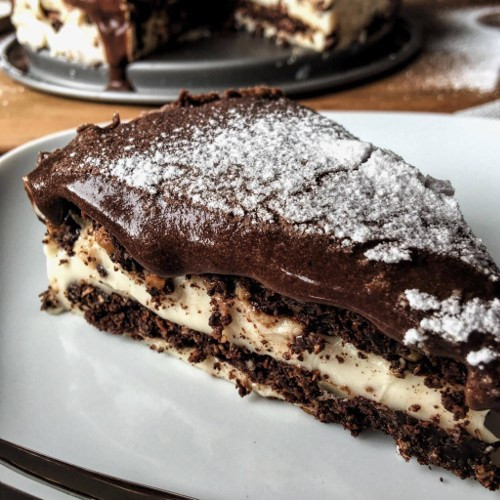 Low Carb Kuchen  Low Carb Eclair Kuchen Rezept mit Schoko Cookies