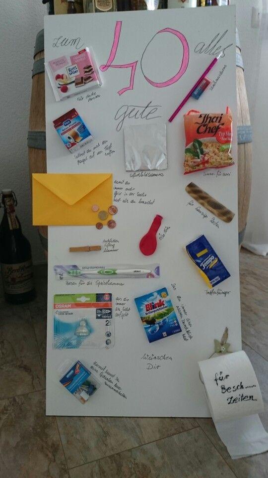 Lustige Geschenke Zum Geburtstag Selber Machen  Geburtstagsgeschenk zum 40 Geschenke