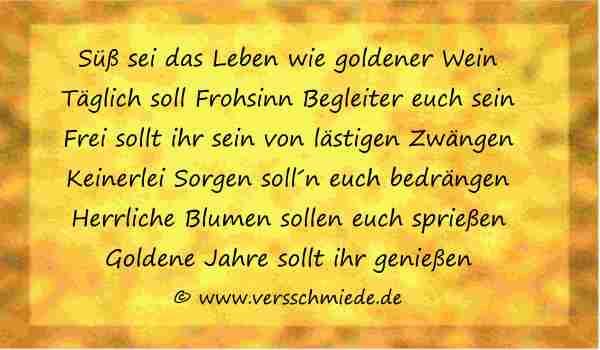 Lustiges Zur Goldenen Hochzeit  Goldene Hochzeit Glückwünsche Sprüche Reden VerseSchmiede