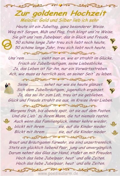 Lustiges Zur Goldenen Hochzeit  Goldene Hochzeit