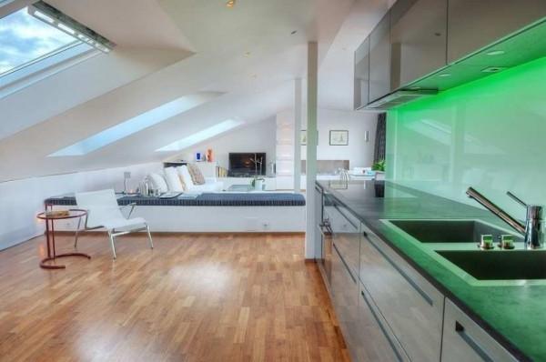 Maisonette Wohnung  Maisonette Wohnung mit moderner Innenarchitektur in Stockholm