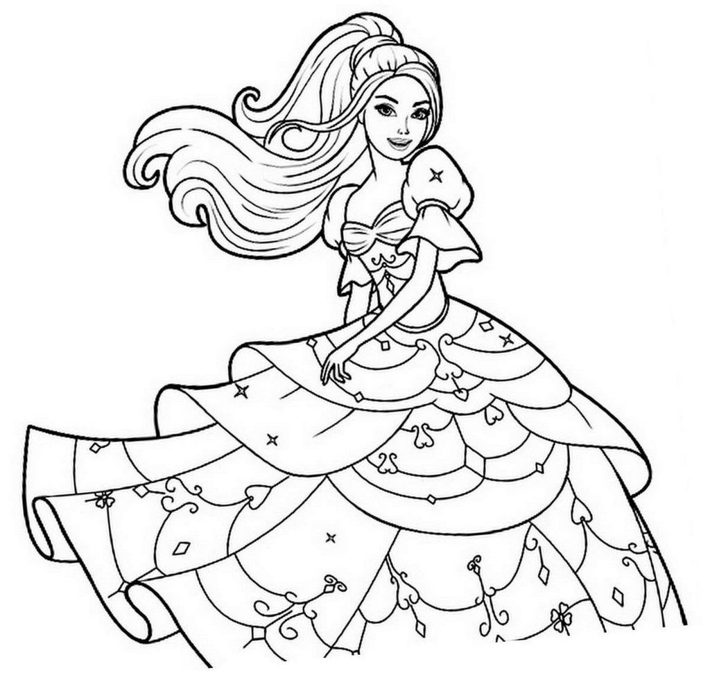 Malvorlagen Barbie  ausmalbilder von barbie – Ausmalbilder für kinder