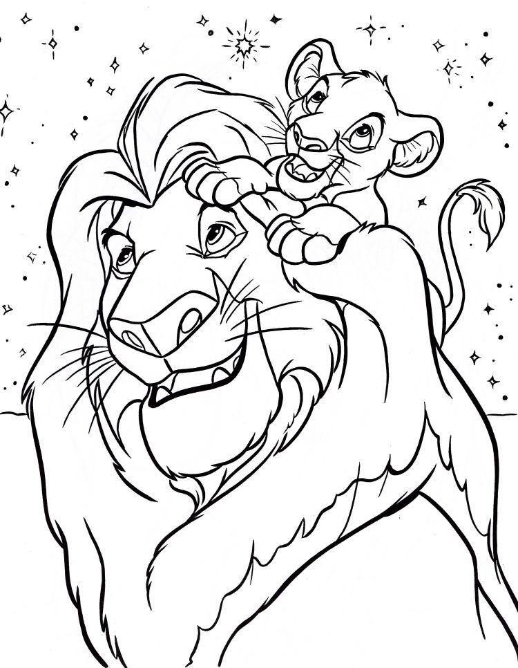 Malvorlagen Disney  kinder malvorlagen tiere lowen disney mufasa simba
