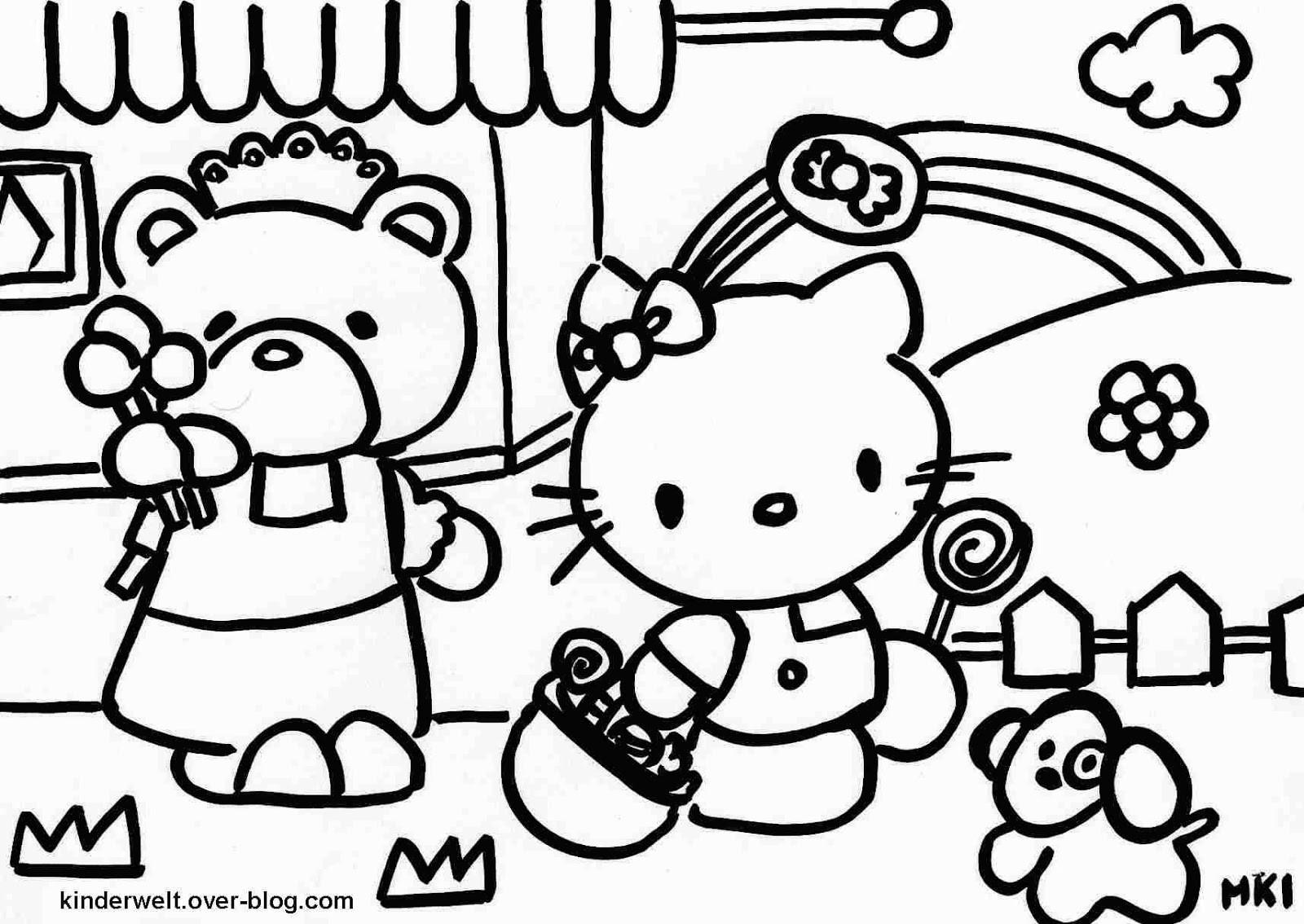 Malvorlagen Drucken  Ausmalbilder zum Ausdrucken Hello Kitty Ausmalbilder