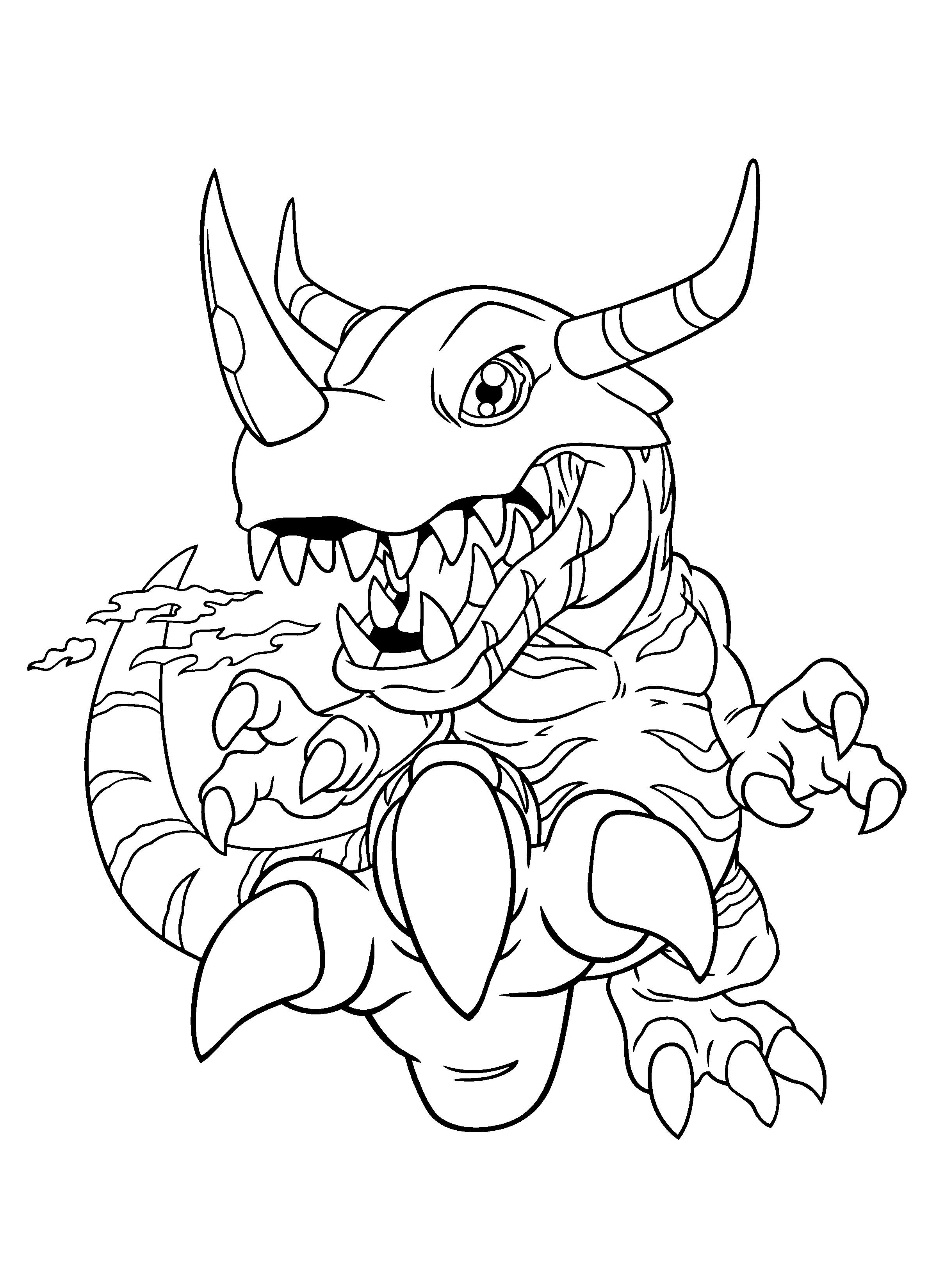 Malvorlagen Drucken  Digimon Ausmalbilder