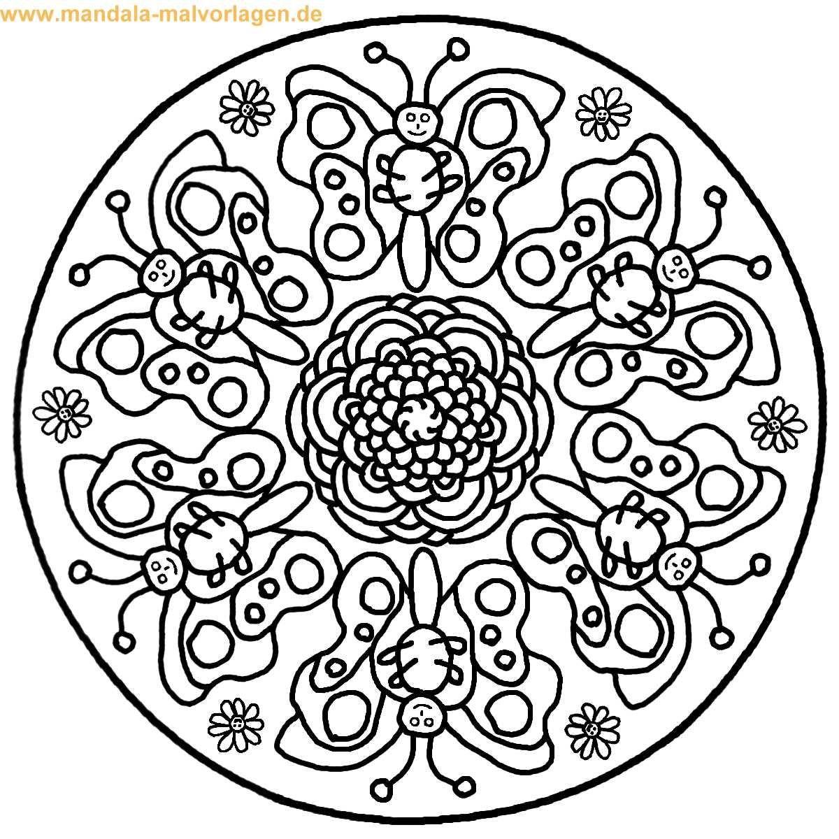 Malvorlagen Mandala  ausmalbilder mandala schmetterling – Ausmalbilder für