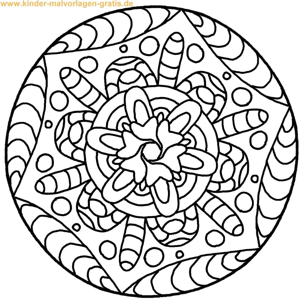 Malvorlagen Mandala  Ausmalbilder mandala kostenlos Malvorlagen zum