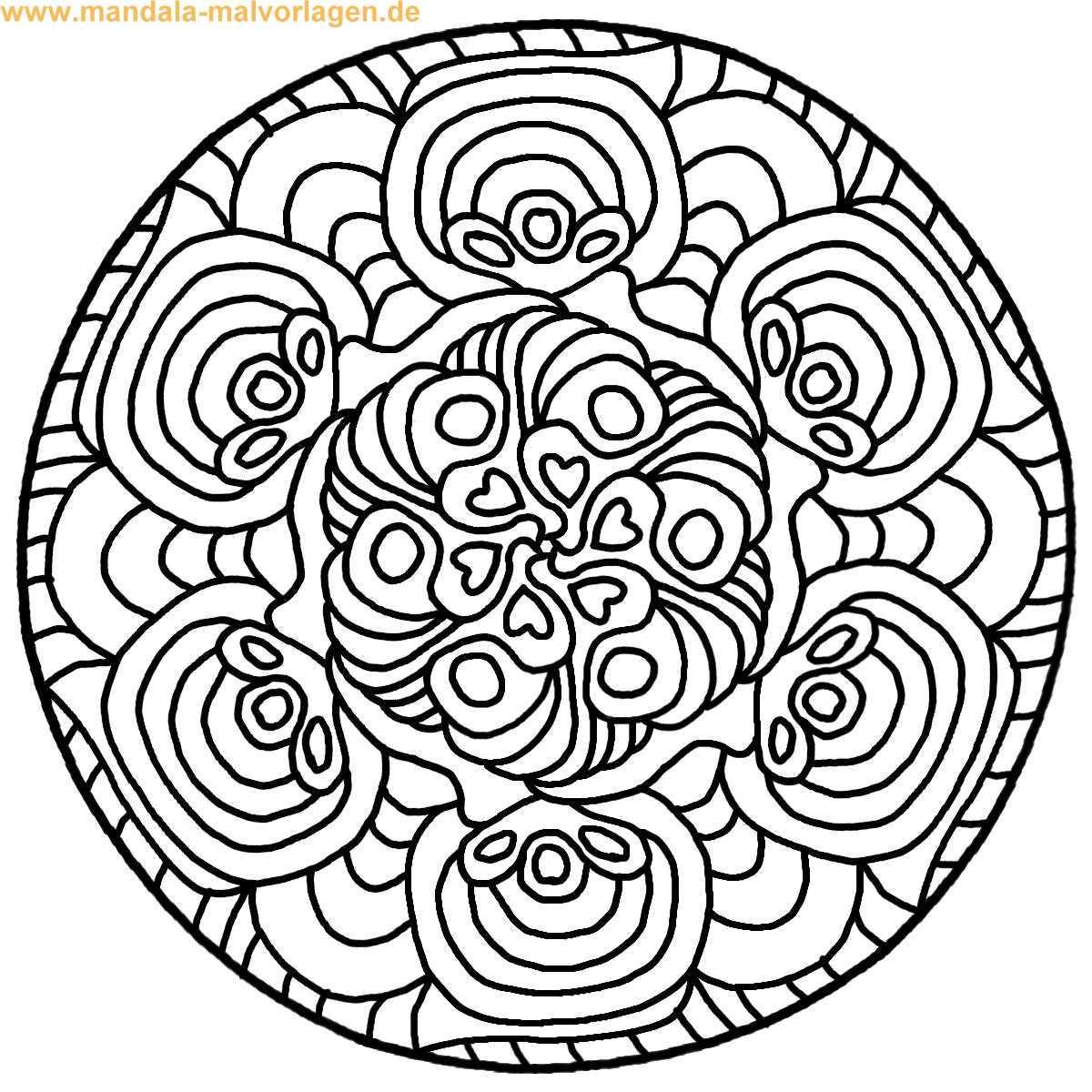 Malvorlagen Mandala  Ausmalbilder mandala vorlagen kostenlos Malvorlagen zum