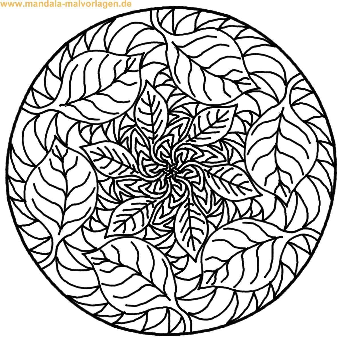 Malvorlagen Mandala  Mandala zum ausmalen Zeichnen Pinterest