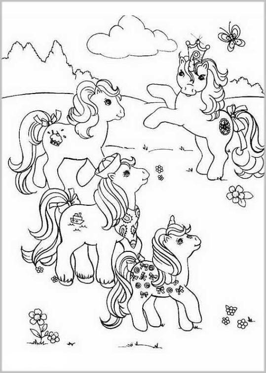 Malvorlagen My Little Pony  Ausmalbilder my little pony kostenlos Malvorlagen zum