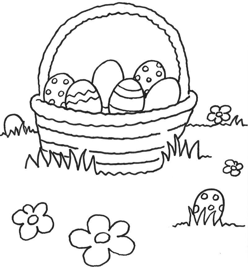 Malvorlagen Ostereier  Osternest Zum Ausmalen 874 Malvorlage Ostern Ausmalbilder