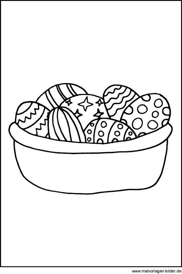 Malvorlagen Ostereier  Ostereier als Ausmalbild Malvorlagen zu Ostern