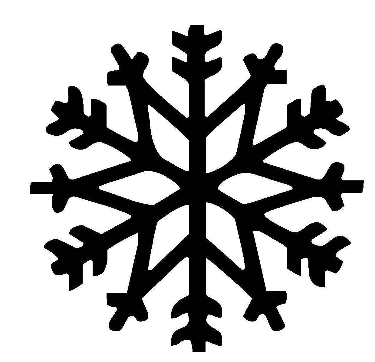 Malvorlagen Schneeflocken  Kostenlose Malvorlage Schneeflocken und Sterne