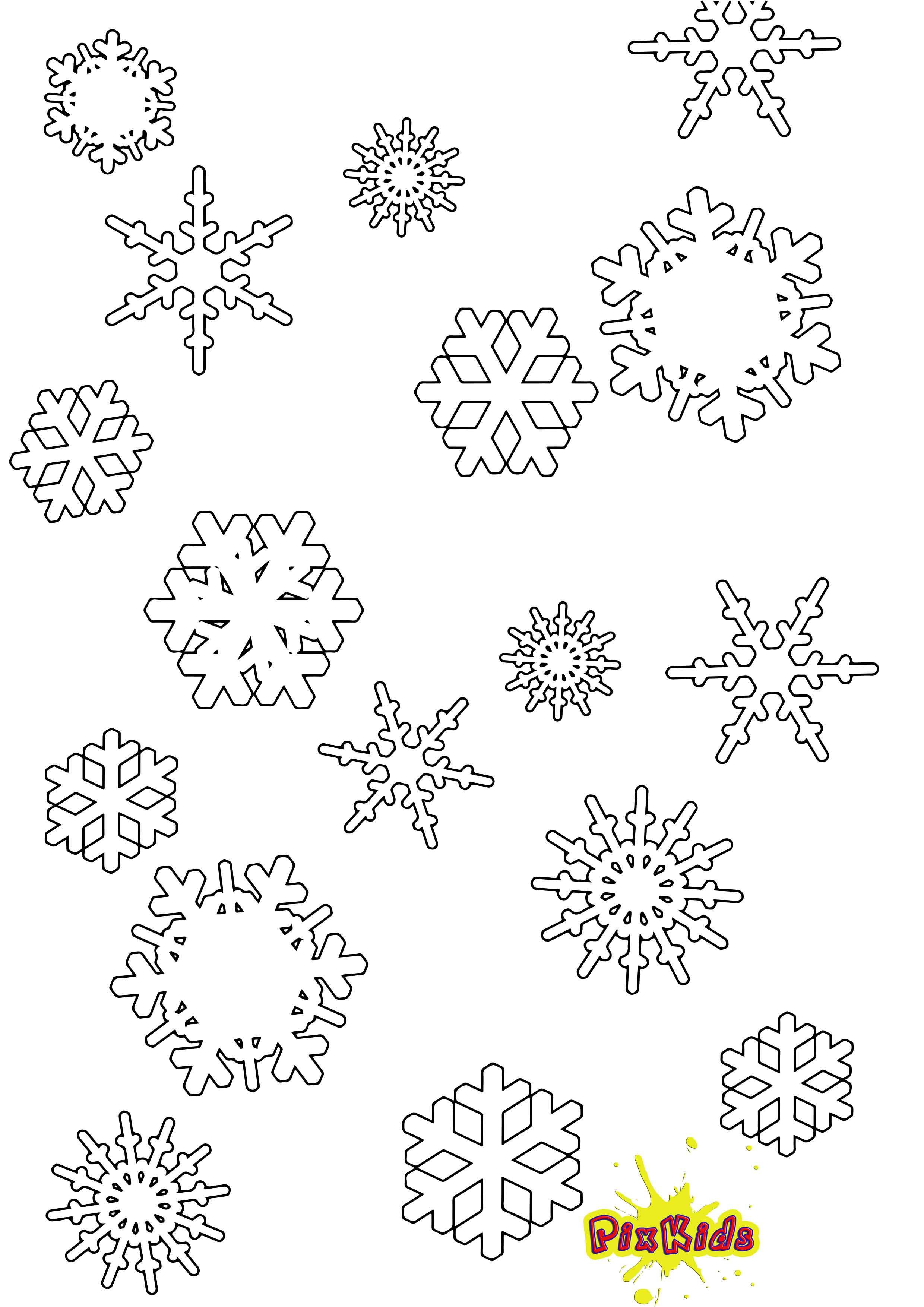 Malvorlagen Schneeflocken  Ausmalbild Schneeflocke kostenlose Malvorlage