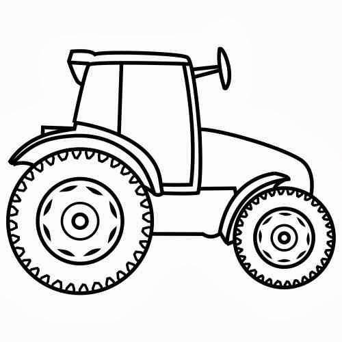Malvorlagen Traktor  TRAKTOR MALVORLAGEN