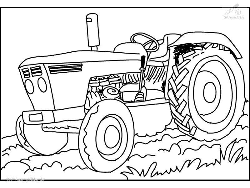Malvorlagen Traktor  Malvorlage Traktor