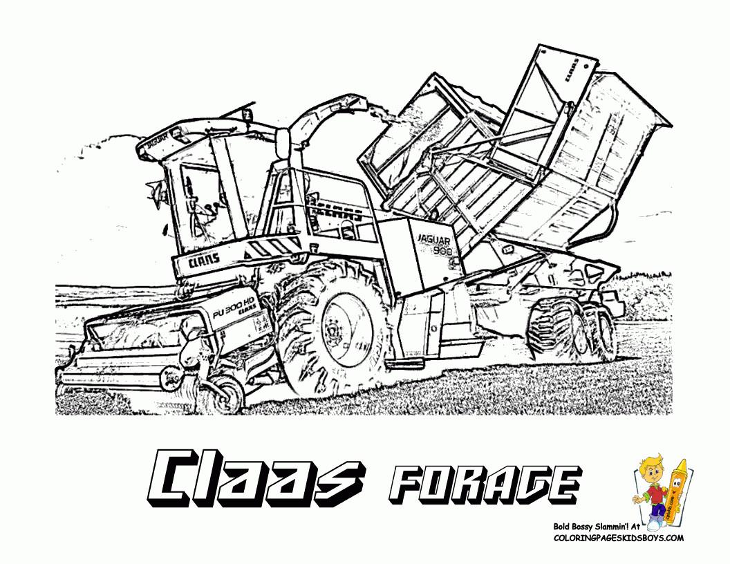 Malvorlagen Traktor  Malvorlagen Traktor Claas