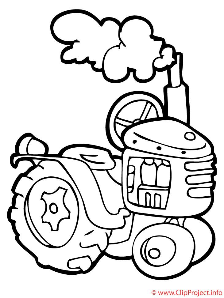 Malvorlagen Traktor  Traktor Malbuch kostenlos
