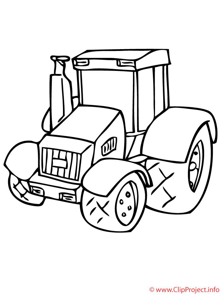 Malvorlagen Traktor  Traktor Malvorlagen fuer Kinder kostenlos