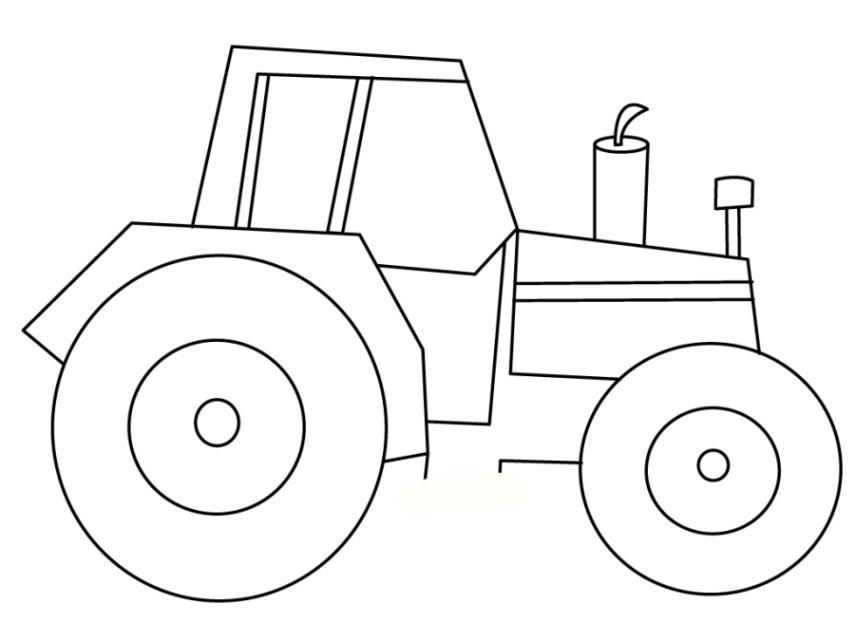 Malvorlagen Traktor  Vorlagen zum Ausmalen Malvorlagen Traktor Ausmalbilder 2
