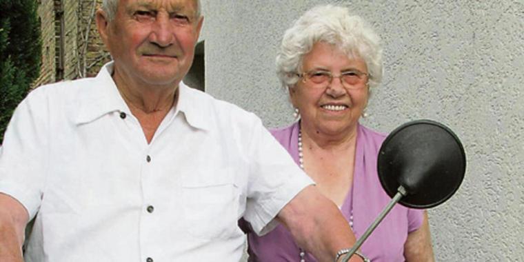 Margot Und Die Hochzeit  Margot 85 und Herbert Klotz 87 feierten steinerne