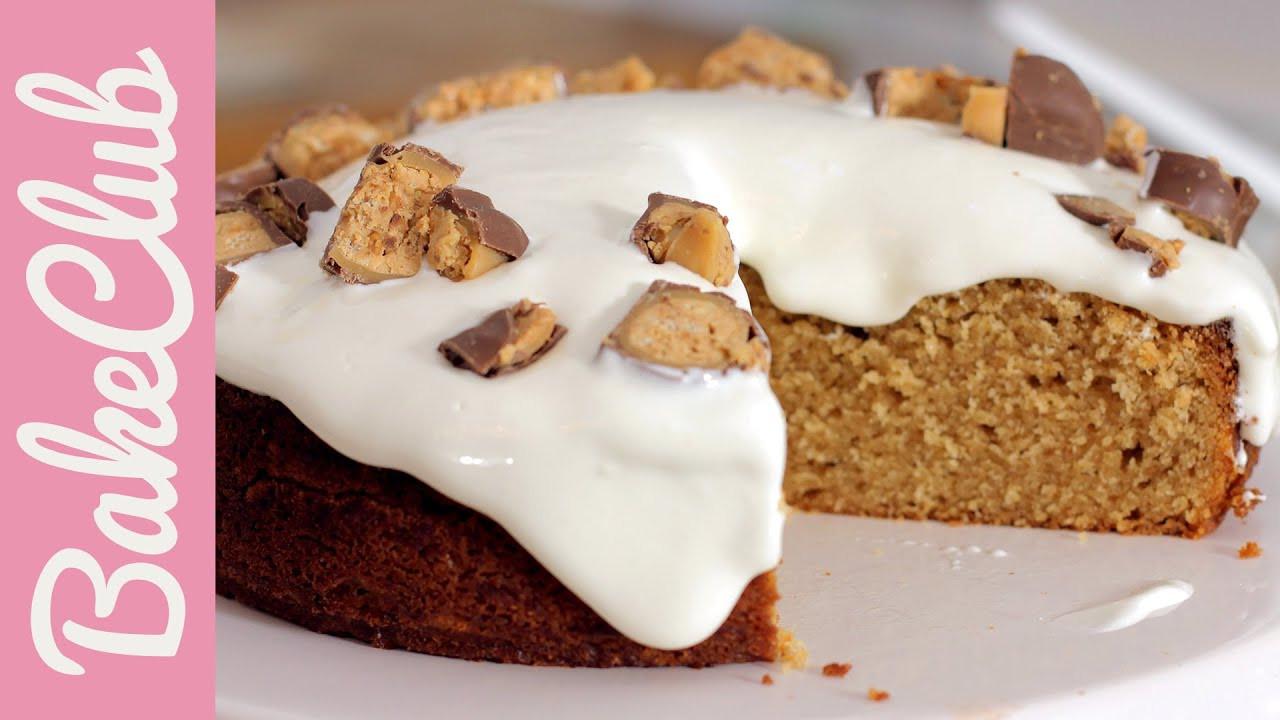 Marshmallow Kuchen  Fluffernutter Cake Erdnussbutter Marshmallow Kuchen