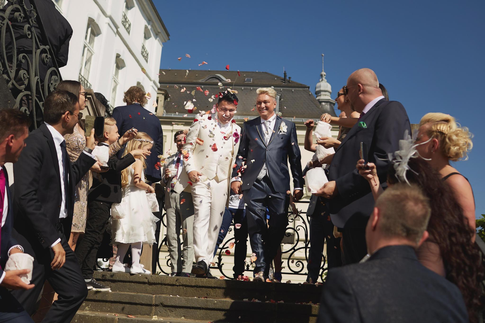 Matthias Und Hubert Hochzeit  Hubert und Matthias So romantisch was das Ja Wort
