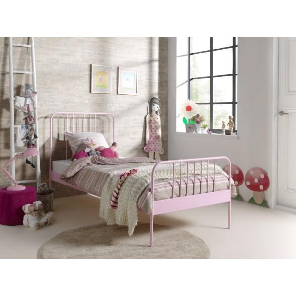 Metallbett 90x200  Metallbett 90x200 Rosa Top Qualität online