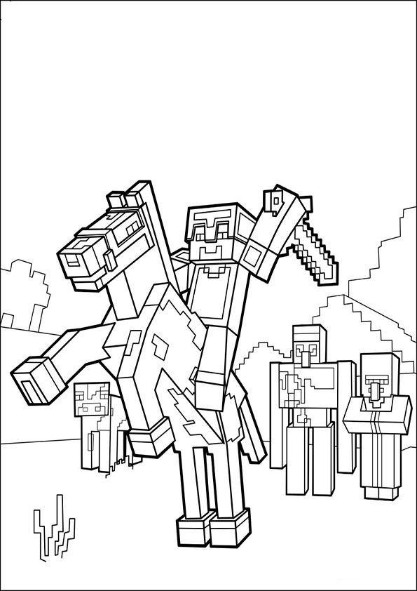 Minecraft Malvorlagen  ausmalbilder minecraft 8 Basteln mit kindern