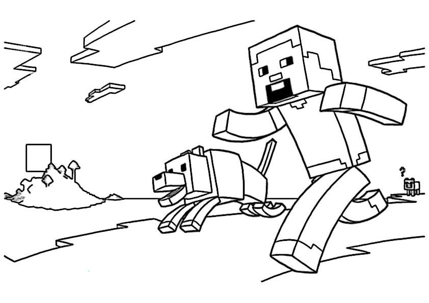Minecraft Malvorlagen  minecraft 9
