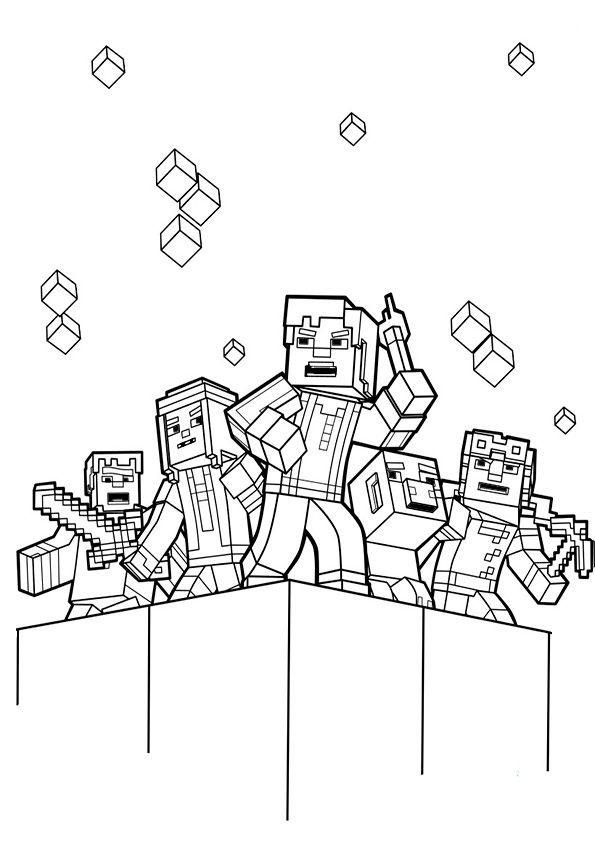 Minecraft Malvorlagen  ausmalbilder minecraft 7 diversos