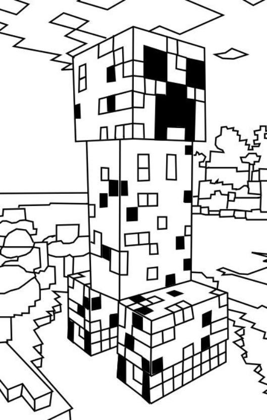 Minecraft Malvorlagen  Kids n fun