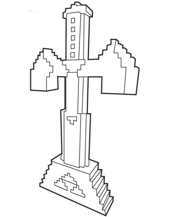 Minecraft Malvorlagen  Ausmalbilder Minecraft Dorf