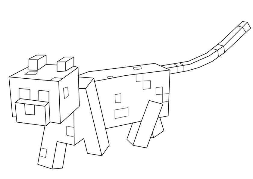 Minecraft Malvorlagen  Minecraft 14