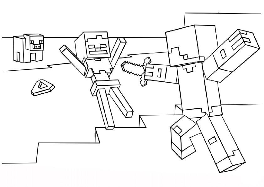 Minecraft Malvorlagen  Minecraft 4