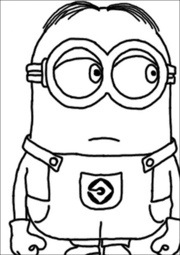 Minions Ausmalbilder Zum Ausdrucken  Ausmalbilder Minions 24