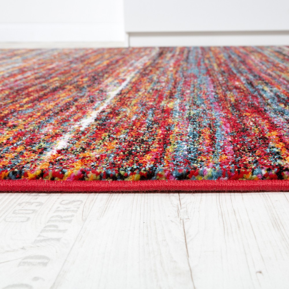 Moderne Teppiche  Wohnzimmer Teppich Spezial Melierung Multicolour Design