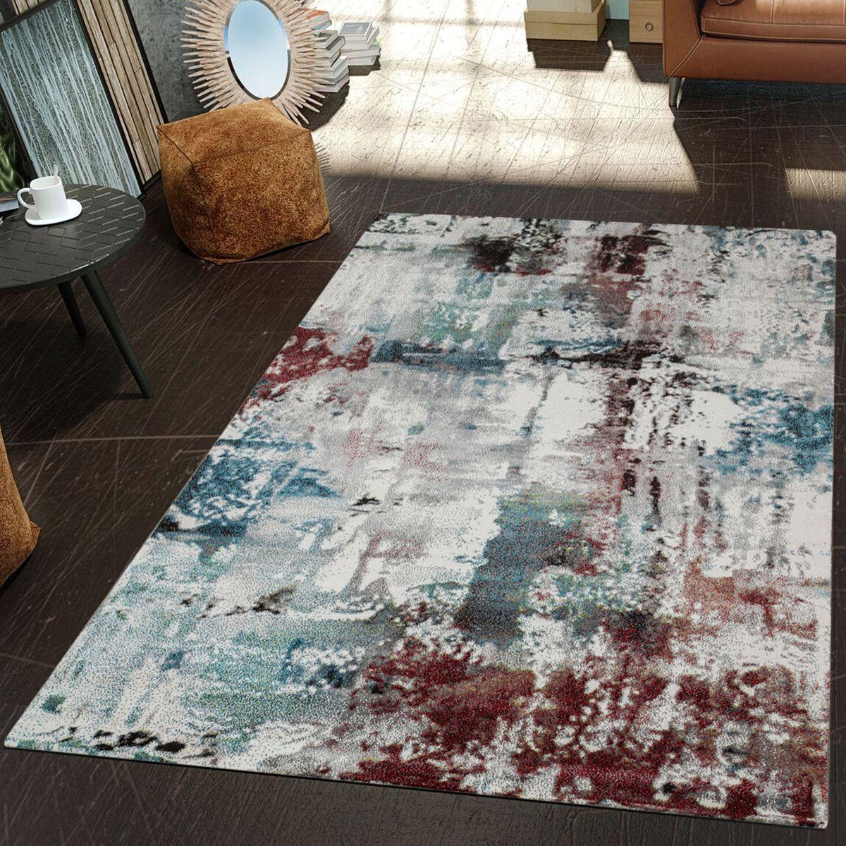 Moderne Teppiche  Moderner Teppich Wohnzimmer Kunstvoll Ä Ölgemälde Mintgrün