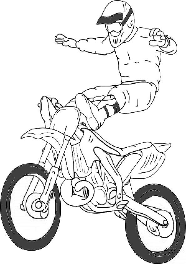 Motocross Ausmalbilder  Ausmalbilder motorrad kostenlos Malvorlagen zum
